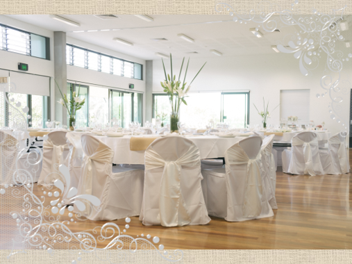 north shore community centre rooms set for wedding