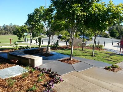 front garden at north shore community centre