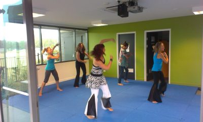 group in dance fitness class