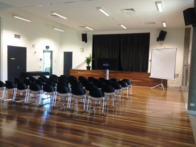 Twin Waters room 1 set up with front facing chairs