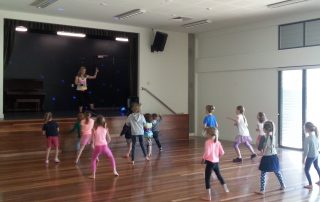 children in zumba class